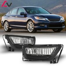 For Honda Accord 13-15 Clear Lens Pair OE Fog Light Lamp+Wiring+Switch Kit DOT