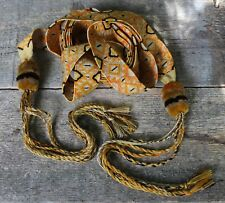 Exquisite Gold Hair Ribbon Hand Woven Back Strap loom Zunil Guatemala Hippie