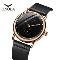 Summer MVMT Style ONOLA Stainless Steel Simple Leather Class Luxury Casual Watch