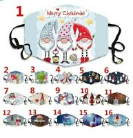 Christmas Print Face Masks Reusable Washable Protective Breathable Face Covering