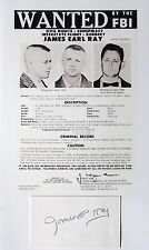 James Earl Ray Caused The Death Activist Martin Luther King Autograph ''Rare''