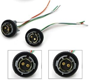 Universal Pigtail Wire Female Socket 1157 U Two Harness Front Turn Signal OE