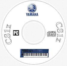 Yamaha CS1x Sound Library, Patches, Manual, MIDI Software & Editors CD - CS 1x