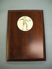 Volleyball plaque 5 x 7 cherry finish female beach relief
