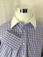 Burberry Burberrys of London Plaid and Checks Long Sleeve Dress Shirt 17 1/2 36
