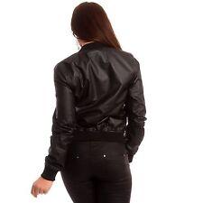 Jacken aus Kunstleder ohne Muster für die Freizeit