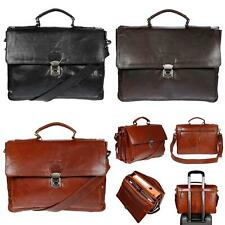 Aktentasche Herren Damen Tasche Messenger Laptop echt Leder Lehrertasche RFID