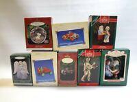 LOT   Mixed Lot Of 8 Hallmark Keepsake Christmas Ornaments in Boxes Elvis Cars