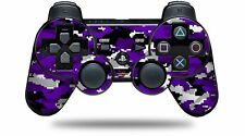 Skin for PS3 Controller WraptorCamo Digital Camo Purple CONTROLLER NOT INCLUDED