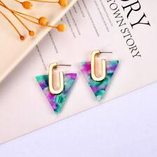Triangle Shape Acrylic Resin Statement Stud Earrings Women Summer Fall Jewelry