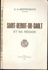 SAINT-BENOIT-DU-SAULT et sa RÉGION de A. de MONTPEYROUX Vicomté de BROSSE 1957