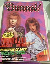 VINTAGE 1987 BURRN! Japan Magazine YNGWIE LYNN TURNER BON JOVI GUNS N' ROSES NOV