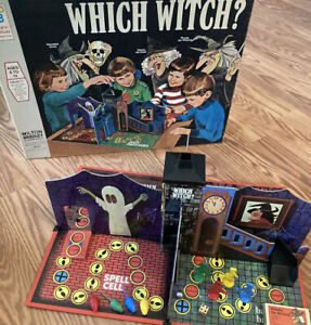 VTG Which Witch Board Game Milton Bradley 1970 - 100% Complete - Very Rare HTF