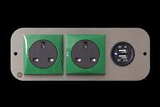 Vw Transporter T5 2.1A Dual USB X2 240v Green Berker Coloured Surround