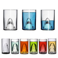 Fashion Crystal Skull Shark Vampire Vodka Whiskey Wine Shot Bar Glass Bottle Cup
