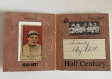 2020 Historic Autographs Half Century Ray Schalk Cut Auto & W514 Card Hof Rare