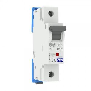 Miniature circuit breaker C13A 1-pole 10kA VDE Backup Maker MCB SEZ