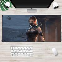 XXL Gaming Mauspads Groß Gamer Girl Mausunterlage Computer PC Mousepad Raider