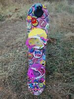 Kids Girls 100cm Burton Chicklet Snowboard Extra Small Bindings + Riglet Reel