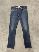 Gap 1969 Dark Wash Denim Blue Jeans Men's  size 30x32 Skinny Fit