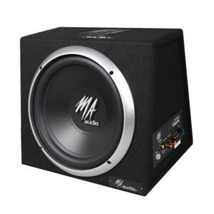 """10"""" inch Car Audio Active Built in Amplified Bass Subwoofer Box 900W Quality New"""