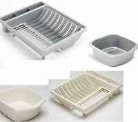 2PC SET Addis Plastic Dish Drainer X Large Plate Rack Utensil  Washing up Bowl