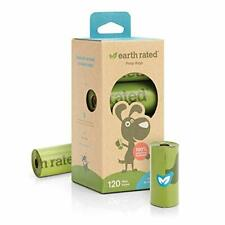 Earth Rated Dog Poo Bags, 120 Extra Thick and Strong Biodegradable Poo Bags for
