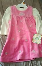Little Me Baby Girls Dress 2 Piece Outfit Floral Pink with white long sleeve