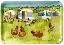 More details for glamping - caravan / camping - large - emma ball colourful melamine tray - 43cm