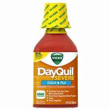 Vicks DayQuil Severe Cold & Flu Relief Liquid 8 Fl Oz Each