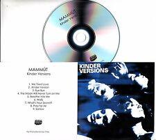 MAMMUT Kinder Versions 2017 UK 9-trk promo test CD