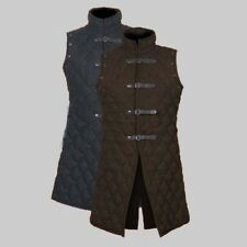 Thick Padded Black Jacket COSTUMES DRESS SCA vest Medieval Gambeson