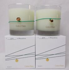 Calvin Klein Mountain Fir Scented Candle 7.5 Oz Lot of 2 Candles