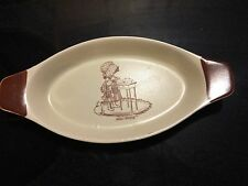 Vintage 70's Holly Hobbie Pottery Food Dish Oven Proof Made in Korea Lot# 0100