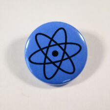 "SCIENCE ATOM GEEK NERD Badge/Button GIFT with METAL PIN ( Size is 1"" / 25mm)"