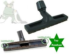 Top Hard Floor Nozzle Natural Horse Hair, 2 Caster Wheels for Beam