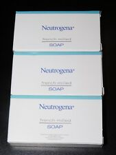 3 - NEUTROGENA TRAVEL SIZE FRENCH MILLED SOAP (New In Boxes)