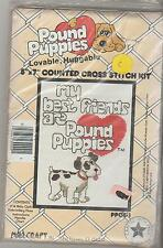 MY BEST FRIENDS ARE POUND PUPPIES (cute black & white dog) cross stitch kit