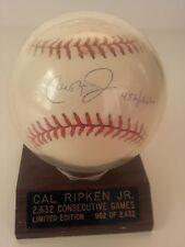 Baltimore Orioles Cal Ripken, Jr. Autographed Baseball #982/2632 Ltd Ed. MLB