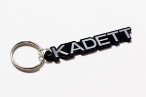 Opel Kadett Keyring - Brushed Chrome Effect Classic Car Keytag / Keyfob