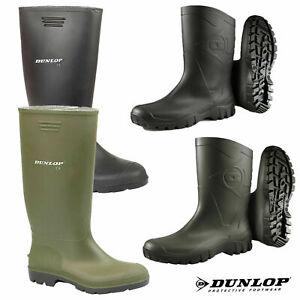 Mens Ladies Dunlop Wellies Waterproof Rain Festival Wellington Boots Sizes UK