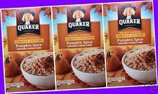 24 POUCHES Quaker Seasonal PUMPKIN SPICE Instant Oatmeal Packets (NO BOXES)