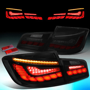 For 2011-2016 BMW F10 LED DRL Sequential Start Up Brake Tail Light Lamp Smoked