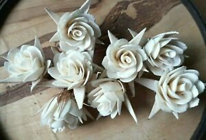 Rose Flower Balsa Wood Decor Craft Home Spa Fragrance Bouquet Wedding Party Gift