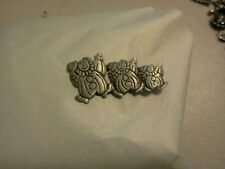 Ringling Brothers CIRCUS JEWELRY 1 THREE DANCING CLOWNS PEWTER PIN All New.