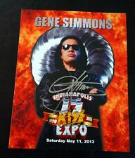 Gene Simmons Signed FIRE 2013 Indianapolis Expo Photo Autograph