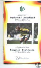 2001 Frankreich + Bulgarien - Deutschland  DFB A6