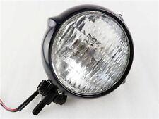 """Motorcycle 4"""" Black Head Light Lamp For Harley Bobber Chopper Sportster Custom"""
