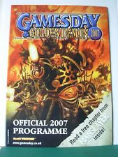 Warhammer 40k Fantasía gamesday 2007 programa Rare fuera de imprenta