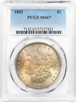1883 PCGS MS-67 Morgan Silver Dollar Mint State 67 * Great Look, Tough This Nice